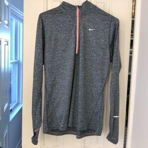 Nike running m heathered 3/4 zip reflective